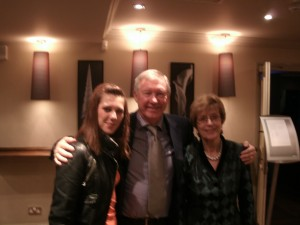 Paula Delaney with Alex Ferguson Christmas Party