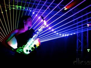 LED Saxophonist