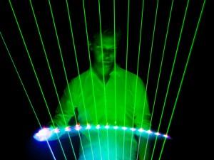 LED Harpist Corporate Entertainment