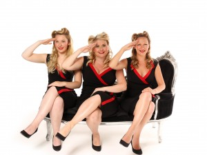 female Vintage swing trio