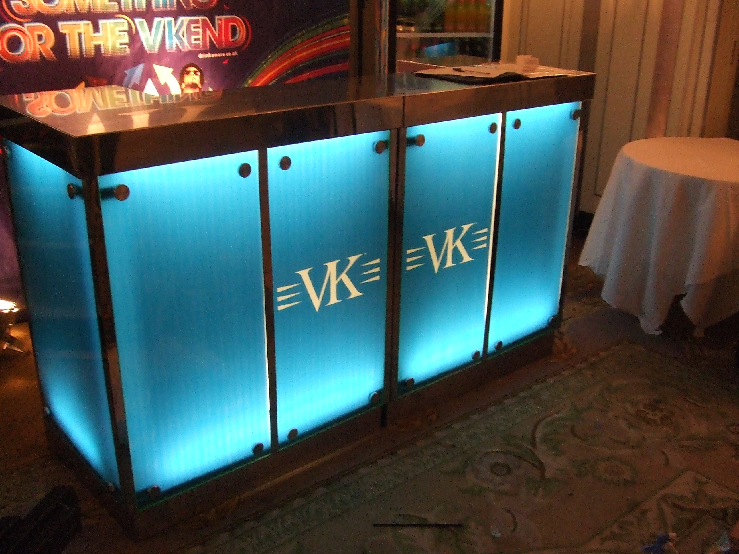2.2m sky blue bar with graphics 2
