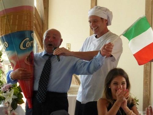 italian surprise singing waiter