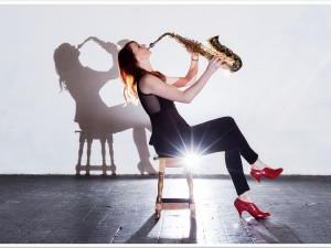 Female Saxophonist hire