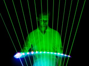 LED Harpist Corporate Entertainment